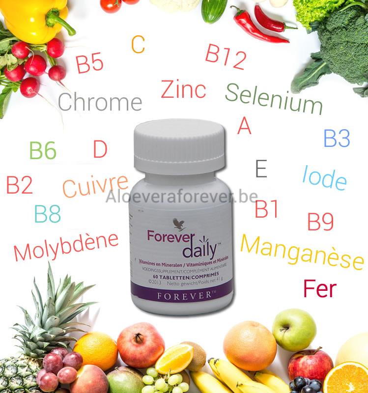 Forever Daily Flacon avec Légumes et Fruits