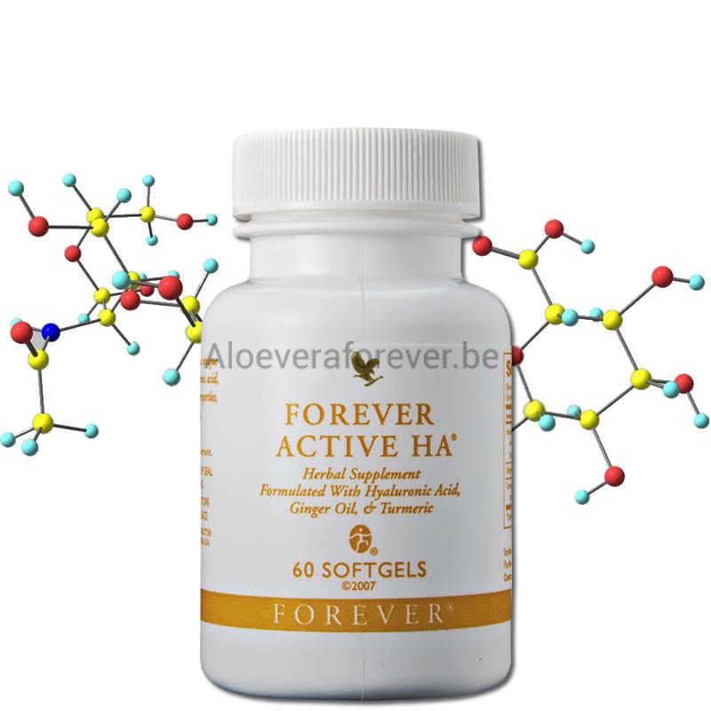 Forever Active HA Flacon et Structure Moléculaire